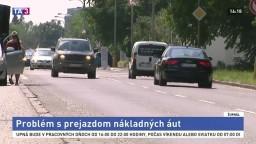 V Podunajských Biskupiciach majú problém s prejazdom nákladných áut