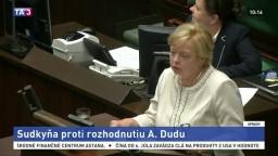 Poľská sudkyňa chce zostať vo funkcii aj napriek spornému zákonu