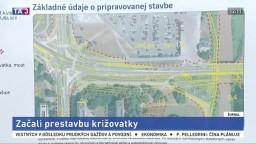 V Prešove začali s prestavbou križovatky, domáci majú obavy