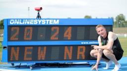 Volko vylepšil národný rekord, v Trnave mu prialo počasie