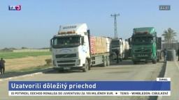 Izrael uzavrel hraničný priechod do Gazy, OSN upozorňuje na následky