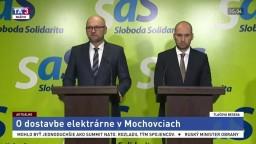 TB členov strany SaS o dostavbe elektrárne v Mochovciach a nákupe stíhačiek