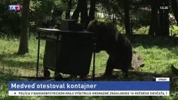 Medveď zo slovenskej ZOO otestoval špeciálny kontajner