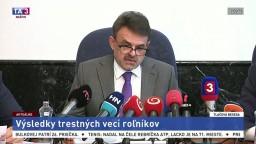 TB J. Čižnára o výsledkoch trestných vecí samostatne hospodáriacich roľníkov
