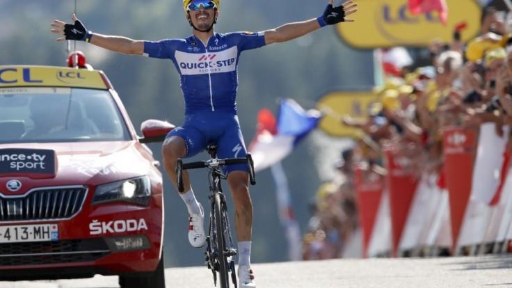 Prvú alpskú skúšku vyhral Alaphilippe, Sagan zvýšil svoj náskok