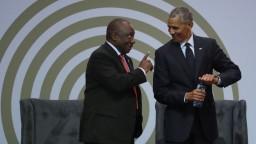 Obama si uctil Mandelu, hovoril o časoch neistoty a vláde podnikateľov