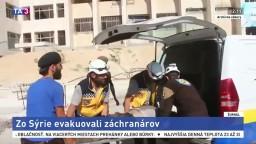 Životy záchranárov v Sýrii boli ohrozené, Izrael ich evakuoval