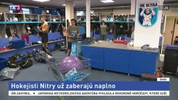 Hokejisti Nitry už naplno trénujú, zabojujú o Vyšehradský pohár