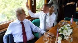 Kiska a Zeman na výlete: vlakom cestovali po stopách Masaryka