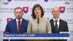 TB zástupcov strán OĽaNO a SaS o situácii v SAV