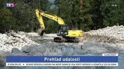 V Tatrách pracujú ťažké stroje, opravujú škody po povodniach