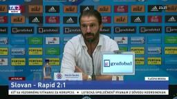TB trénera ŠK Slovan M. Ševelu po zápase s tímom Rapid Viedeň
