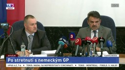TB J. Čižnára a P. Šufliarskeho po stretnutí s nemeckým GP