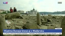 Hladina Dunaja extrémne klesla, lode musia rušiť plavby
