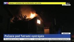 Pod Tatrami vyčíňala búrka: horel dom a zaplavilo pivnice