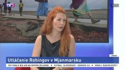 ŠTÚDIO TA3: K. Kironská o utláčaní Rohingov v Mjanmarsku