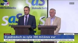 TB predstaviteľa SaS Jozefa Rajtára a Petra Cvika o podvodoch za vyše 300 miliónov eur