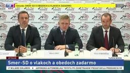 TB predstaviteľov strany Smer-SD o vlakoch a obedoch zadarmo