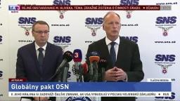 SNS kritizovala dokument o migrácii, Most stojí za Lajčákom