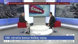 ŠTÚDIO TA3: P. Velčický o prvej svetovej vojne