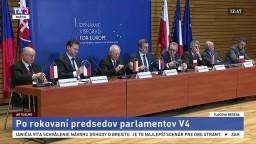 Brífing predsedov parlamentov po spoločnom rokovaní