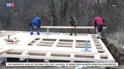 V Spišskom Hrhove si postavili lesnú saunu, poslúži nielen obyvateľom