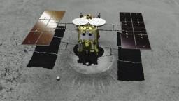 Japonská sonda úspešne pristála na asteroide. Takto to vyzeralo