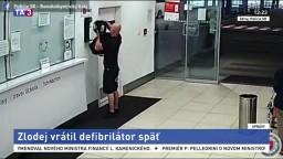 V zlodejovi sa ozvalo svedomie, defibrilátor po medializácii vrátil
