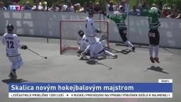 Hokejbalovým majstrom je Skalica, zdolala Považskú Bystricu