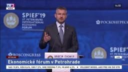 Prejav P. Pellegriniho na ekonomickom fóre v Petrohrade