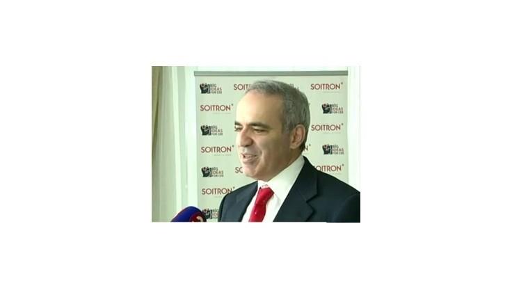 Šachová  ikona Garym Kasparov navštívil Slovensko