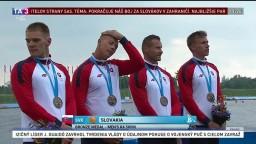 Slovensko má ďalší cenný kov, štvorkajak vybojoval v Minsku bronz