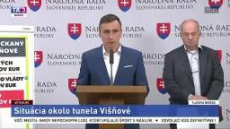 TB predstaviteľov strany OĽANO o situácii okolo tunela Višňové