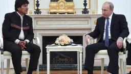 Bolívijský prezident navštívil Rusko, privítal ho Putin