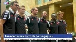 Futbalisti Juventusu Turín spôsobili v Singapure ošiaľ fanúšikov
