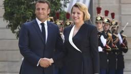 Macron prijal Čaputovú, označil ju za symbol zjednotenej Európy