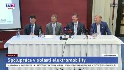TB M. Šefčoviča a podpredsedu EIB V. Hudáka o spolupráci v oblasti elektromobility