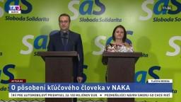 TB predstaviteľov strany SaS o pôsobení kľúčového človeka v NAKA