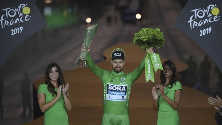 Fotogaléria: Sagan je rekordérom. Takto sa tešil zo zelenej trofeje