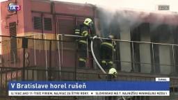 Na železničnom moste v Bratislave horel rušeň, zasiahli hasiči