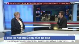 HOSŤ V ŠTÚDIU: Analytička J. Marková o rekordnom počte bankrotujúcich