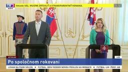 Brífing Z. Čaputovej a G. Gála po spoločnom rokovaní