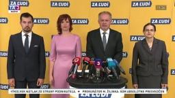 TB predstaviteľov strany Za ľudí o stretnutí Kočnera s Bugárom a o súdnictve