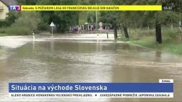 Povodňová situácia na východe Slovenska je stabilizovaná