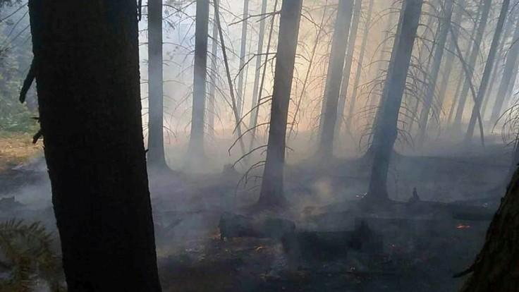 Na Spiši horí les, hasiči s technikou sa k nemu nevedia priblížiť