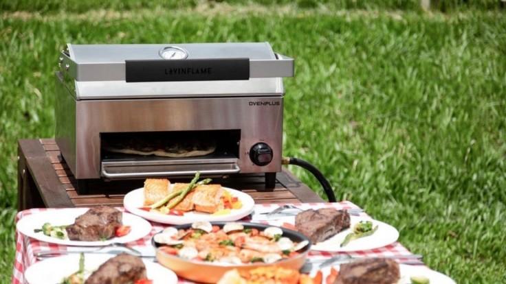 Všestranný prenosný gril OvenPlus pre nedymiace pečenie