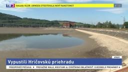 Vypustili Hričovskú priehradu pri Žiline, ľudí vyzvali na opatrnosť