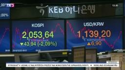Ázijské burzy zaznamenali prepad, investori sa obávajú obchodnej vojny