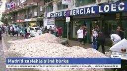 Ulice zavalili haldy ľadu. Španielsko zasiahli silné búrky s krúpami