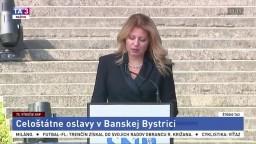 Príhovor prezidentky Z. Čaputovej na oslavách výročia SNP